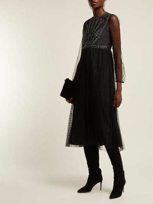 Point D'esprit Midi Dress by Redvalentino