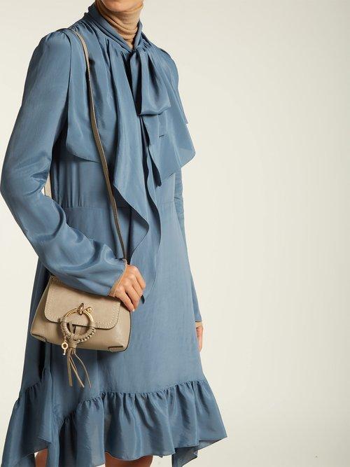 Ruffled crepe de Chine mini dress by