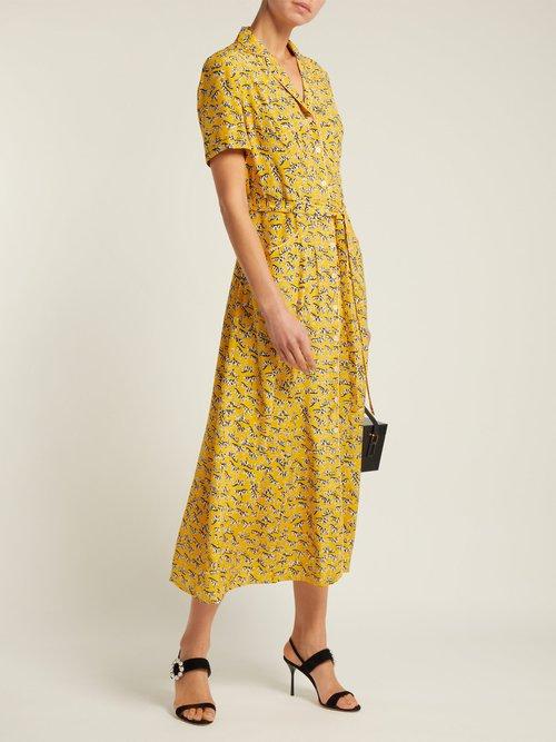 Long Maria zebra-print silk dress by Hvn