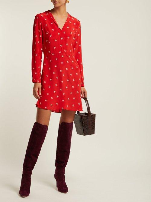 Lou Dice Print Silk Dress by Hvn