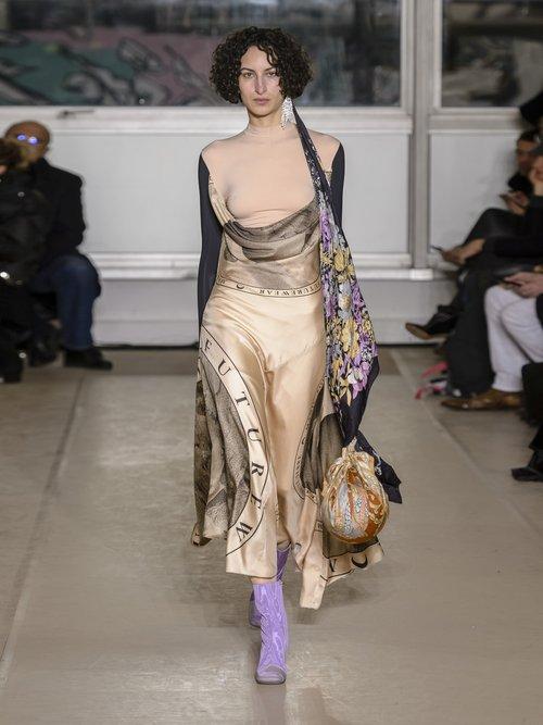 Layered Silk Blend Dress by Marine Serre