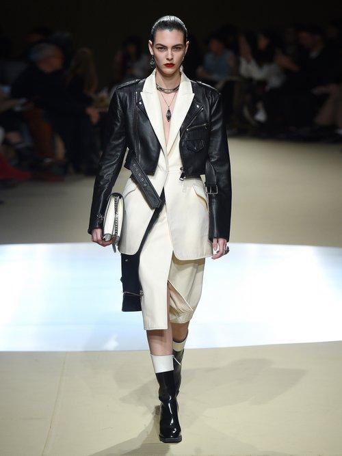 Leather Biker Suit Jacket by Alexander Mcqueen