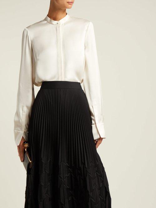 Silk-satin long-sleeved blouse by Alexander Mcqueen