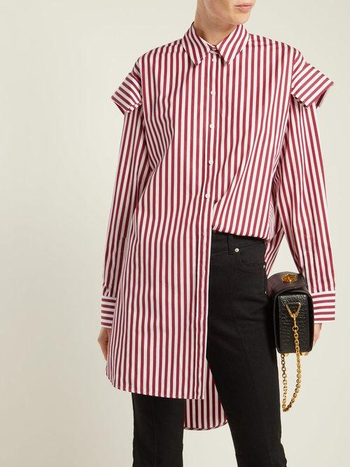 Oversized striped cotton shirt by Alexander Mcqueen