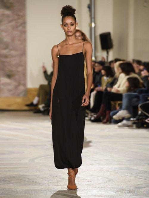 Nahil Draped Midi Dress by Jacquemus