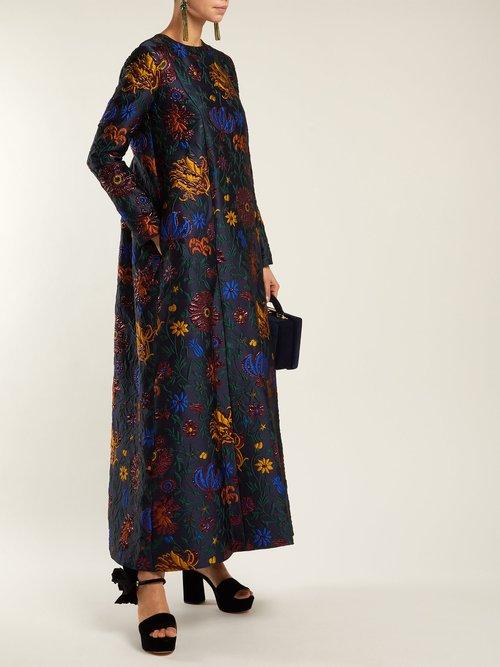 Dragon Flower Maxi Dress by La Doublej