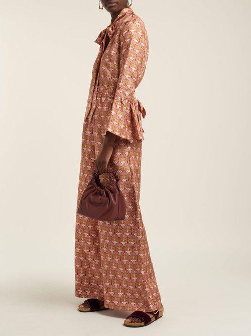 Happy Wrist bell-sleeve blouse by La Double J