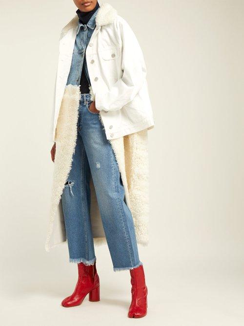 Shearling And Denim Hybrid Coat by Natasha Zinko