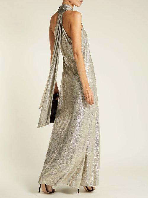 2a7a4933322 Pandora Lurex halterneck gown by Galvan