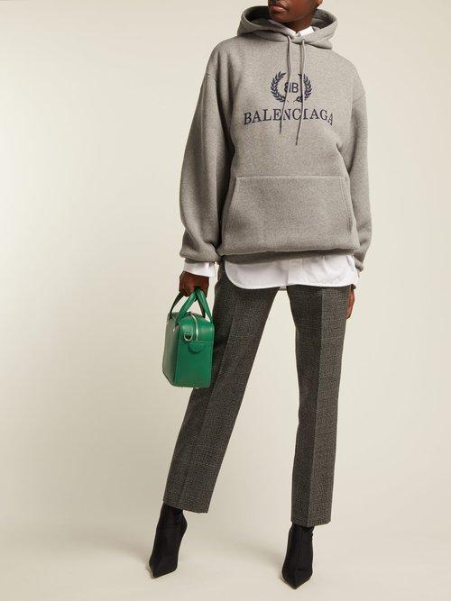 BB logo cotton-blend hooded sweatshirt by Balenciaga
