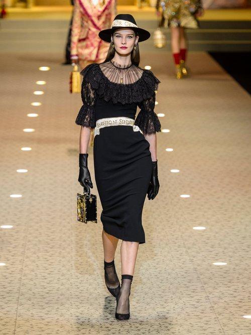 Fashion Sinner Embroidered Midi Dress by Dolce & Gabbana