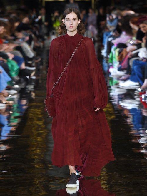 Tiffany gathered silk dress by Stella Mccartney