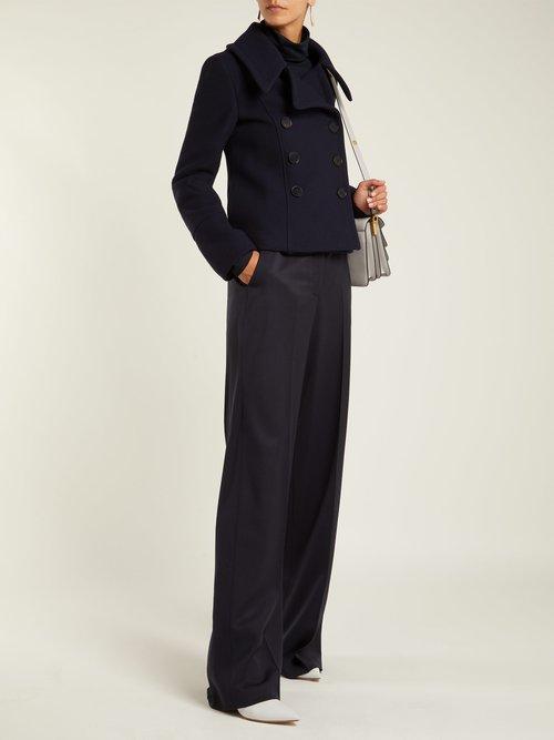 Double Breasted Wool Overcoat by Stella Mccartney