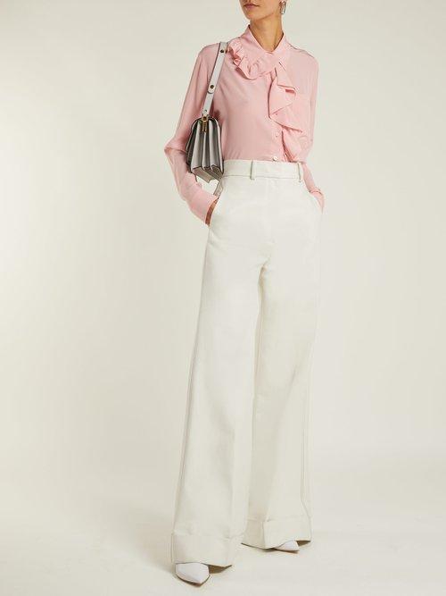 Ruffle-trimmed silk blouse by Stella Mccartney