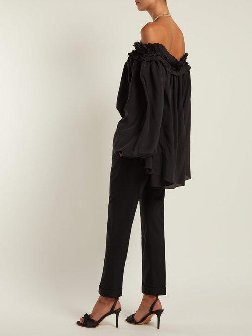 Sophora off-the-shoulder silk blouse by Haider Ackermann