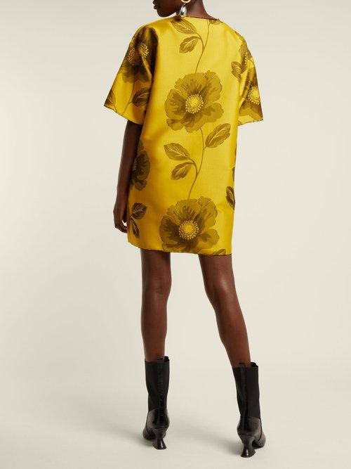 Floral jacquard mini dress by Marques'Almeida
