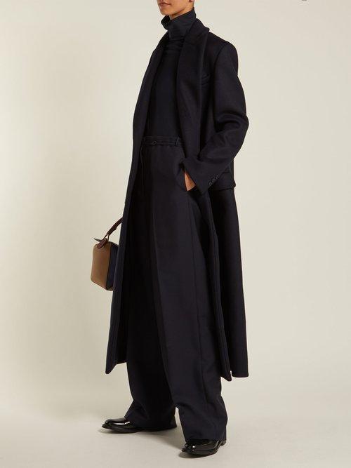 Double Breasted Wool Blend Coat by Katharine Hamnett London