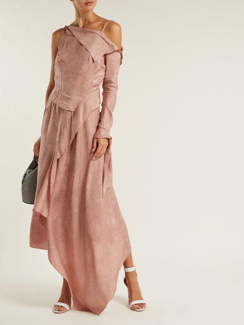 Bruce Draped Silk Blend Jacquard Dress by Roland Mouret