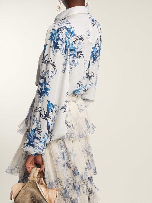 Azalea floral-print silk shirt by Johanna Ortiz