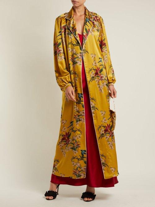 The Flower Queen silk robe by Johanna Ortiz