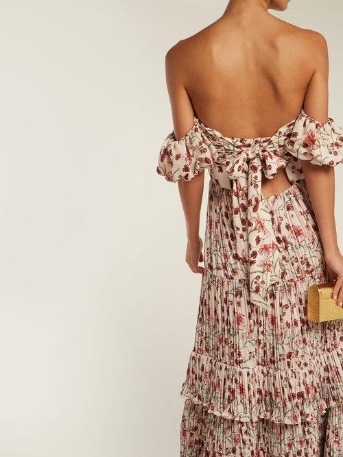 The Lady Of Shallot Floral Print Dress by Johanna Ortiz