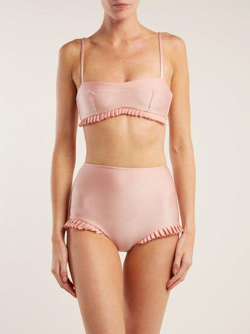 X Charlotte Olympia ruffle-trim bikini by Adriana Degreas