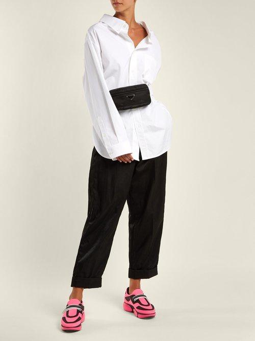 Cloudbust nylon trainers by Prada