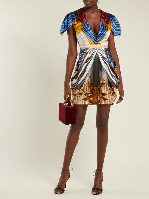 Garde Drape Print Satin Mini Dress by Mary Katrantzou
