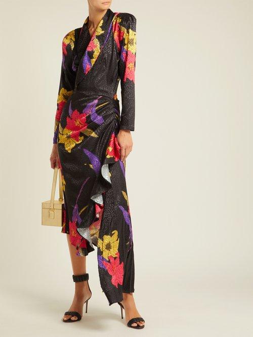 Ava satin-jacquard midi dress by Dodo Bar Or