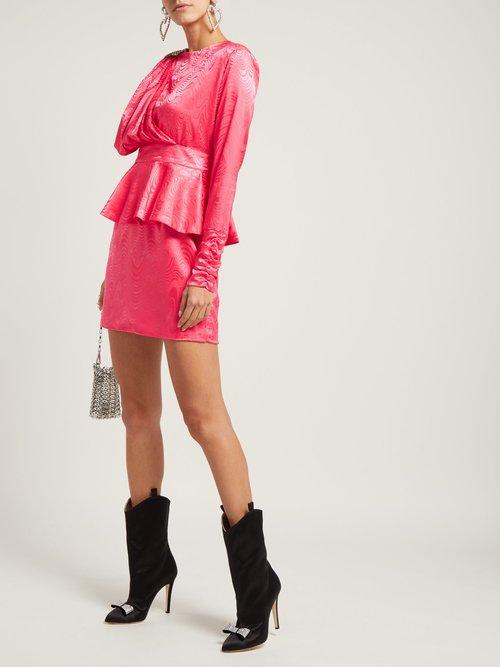 Grace Crystal Emebllished Satin Dress by Dodo Bar Or