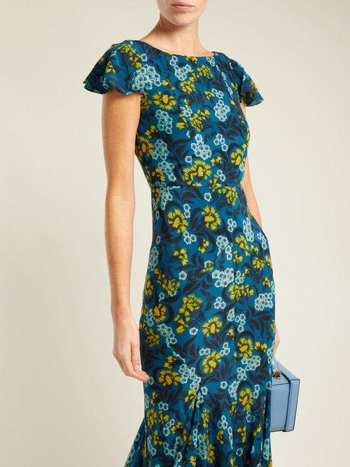 Daphne azalea-print dress by Saloni