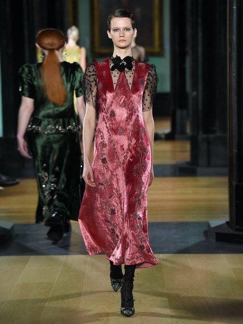 Pembroke Crystal Embellished Velvet Dress by Erdem