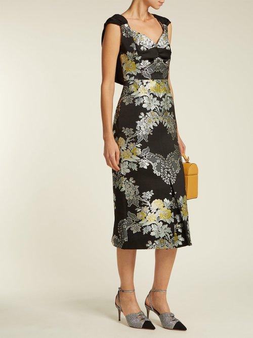 Gretchen Adele Jacquard Midi Dress by Erdem