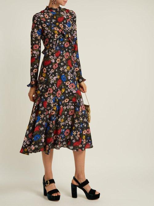 Cordelia Lismore Garden Print Silk Dress by Erdem