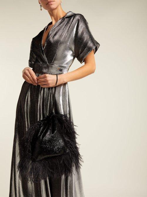 Liquid Metal Wrap Dress by Temperley London