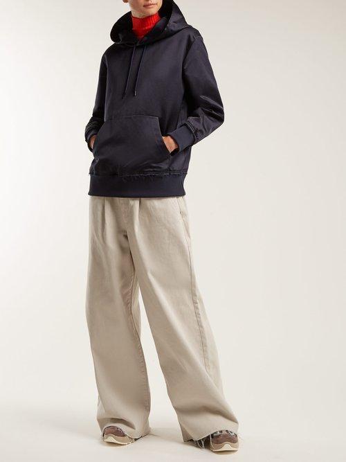 Silk hooded sweatshirt by Undercover