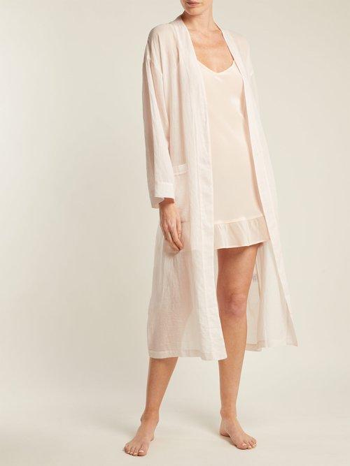 Ruffled Silk Slip Dress by Pour Les Femmes