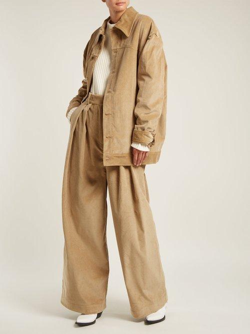 Oversized Cotton Corduroy Jacket by A.W.A.K.E.