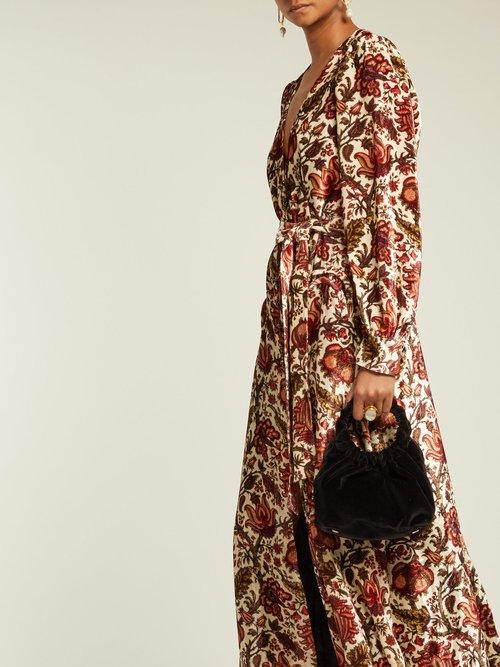 Ballroom Royal Clipper Print Velvet Dress by