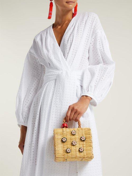 Shella mini reed basket bag by Heimat Atlantica