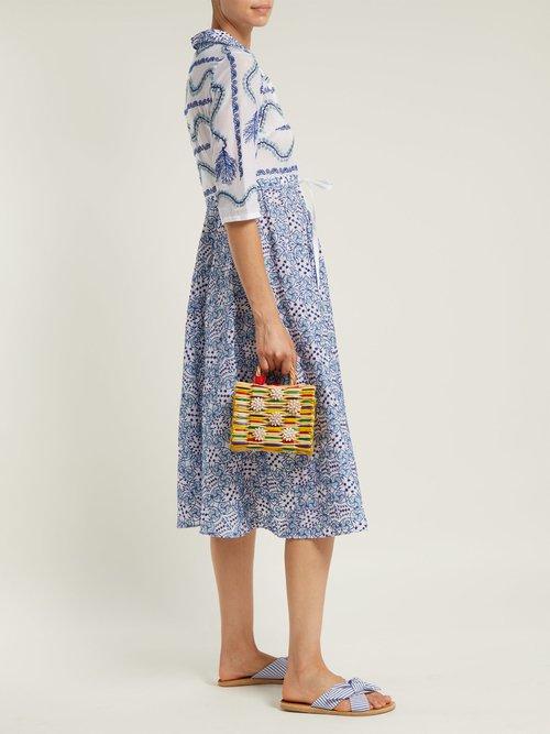 Chito seashell-embellished basket bag by Heimat Atlantica