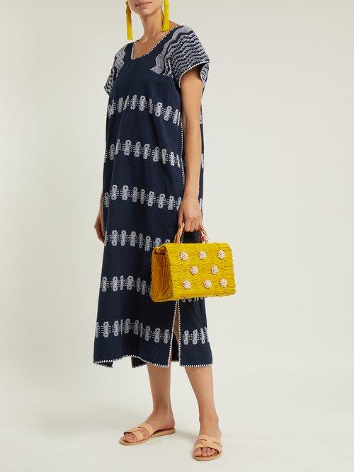 Celeste seashell-embellished basket bag by Heimat Atlantica
