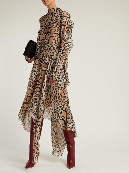 Dreya leopard-print silk-chiffon midi dress by Petar Petrov