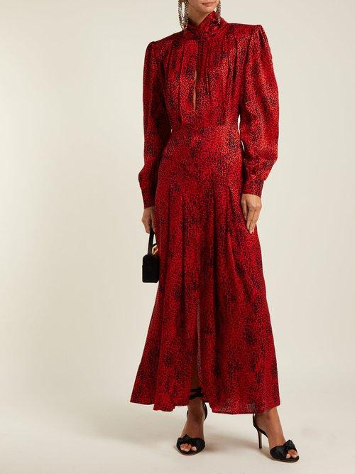 Leopard Jacquard Silk Dress by Alessandra Rich