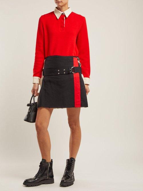 Arthur Point Collar Wool Shirt by La Fetiche