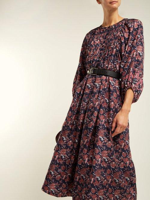 Femek Silk Midi Dress by Apiece Apart