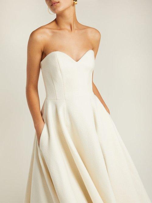 Off The Shoulder Wool Blend Dress by Sara Battaglia
