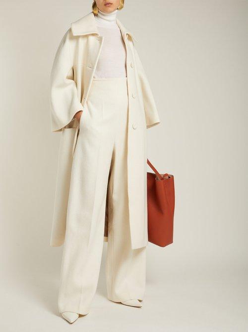 Wool Blend Coat by Sara Battaglia