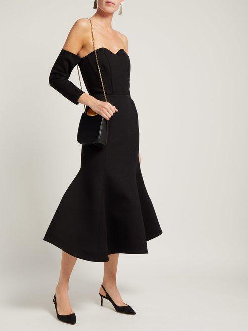 Off The Shoulder Structured Midi Dress by Vika Gazinskaya