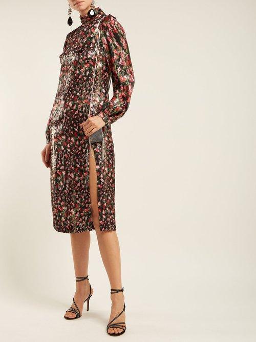 Elle Floral Print Silk Midi Dress by Raquel Diniz